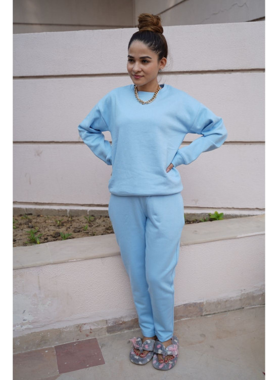 Hoodie and Jogger Set- Sky Blue